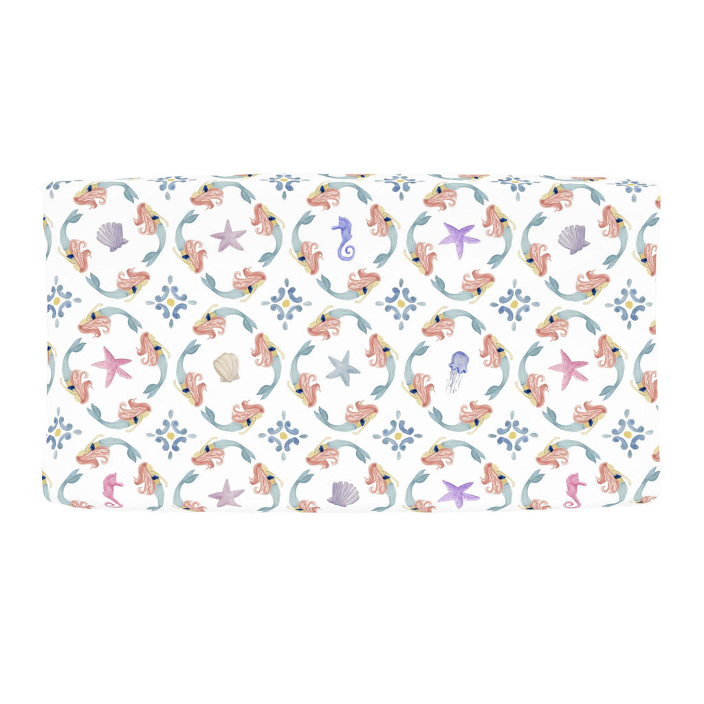 Product image for Mermaid Medallion Changing Pad Cover