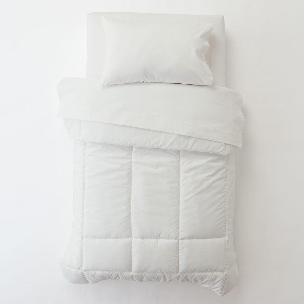 Product image for Solid Antique White Toddler Pillow Case with Pillow Insert