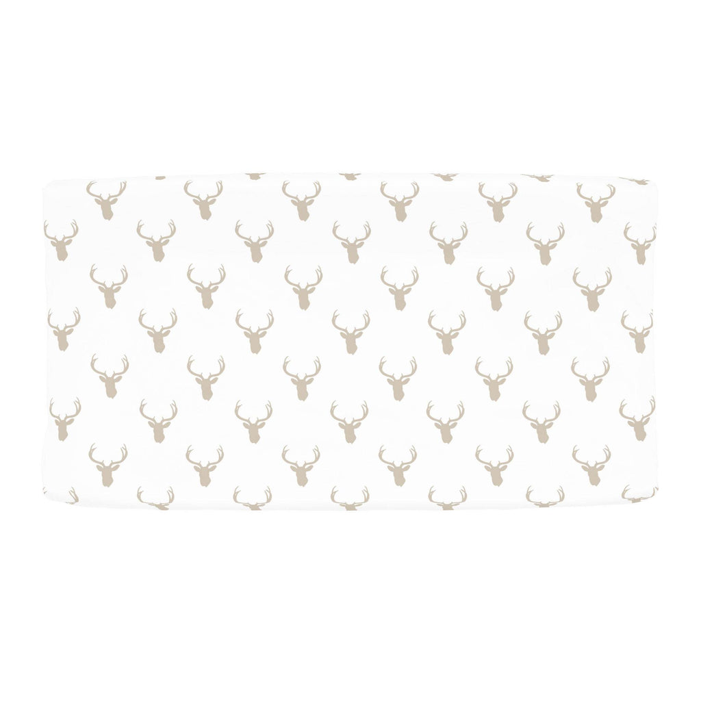 Product image for Taupe Deer Silhouette Changing Pad Cover