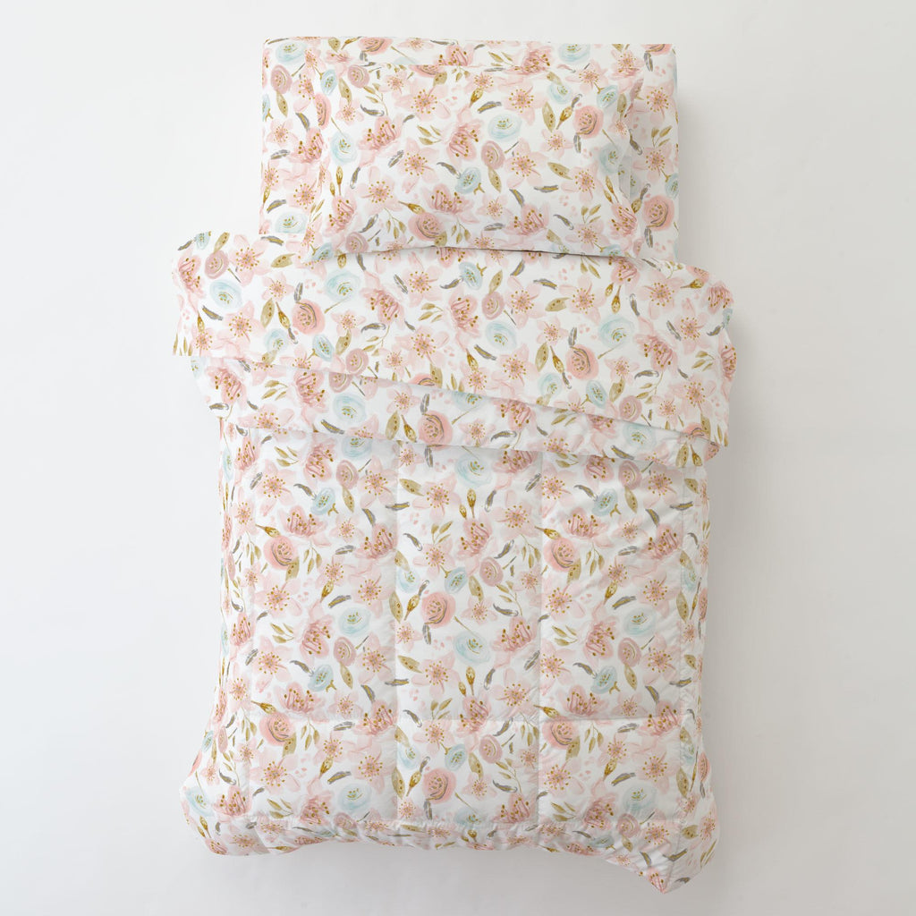 Product image for Pink Hawaiian Floral Toddler Comforter
