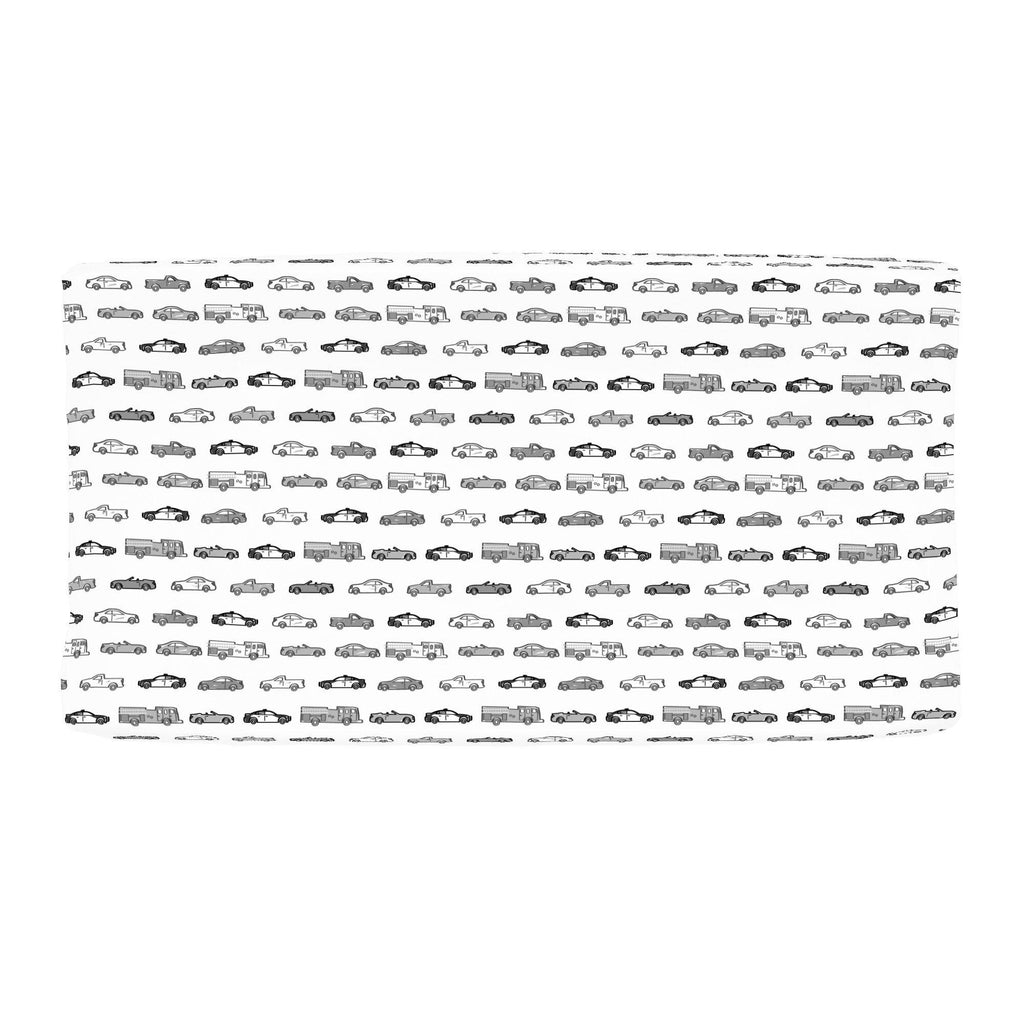 Product image for Gray Modern Cars Changing Pad Cover
