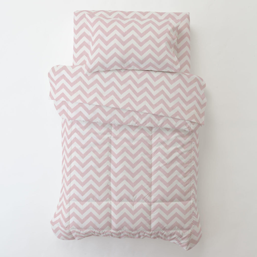 Product image for Pink Zig Zag Toddler Pillow Case with Pillow Insert