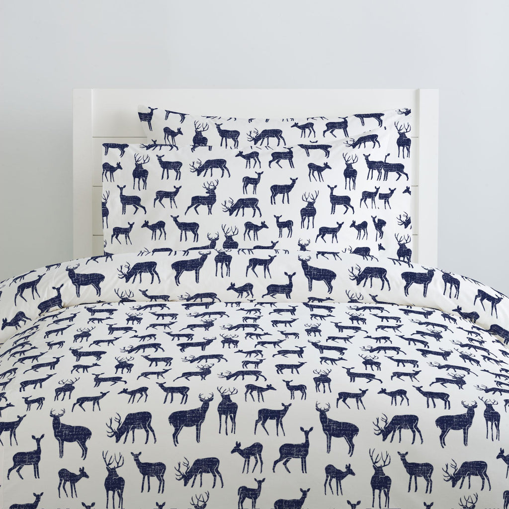 Product image for Windsor Navy Deer Pillow Case