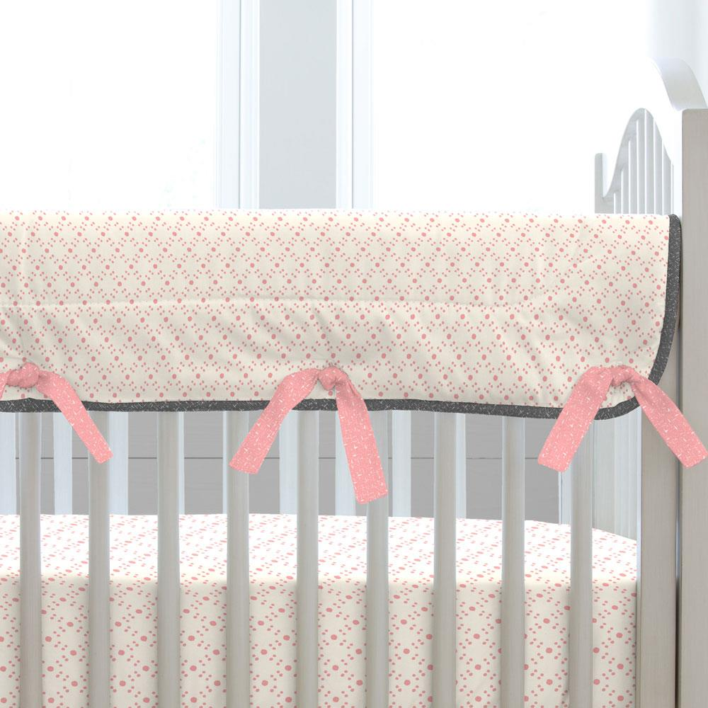 Product image for Pink and Orange Floral Tropic Crib Rail Cover