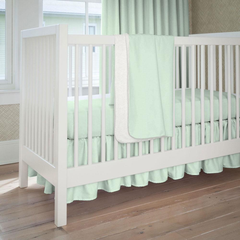 Product image for Solid Icy Mint Baby Blanket