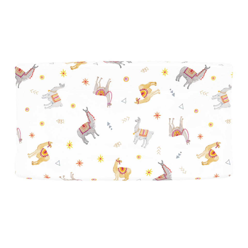 Product image for Festive Llamas Changing Pad Cover
