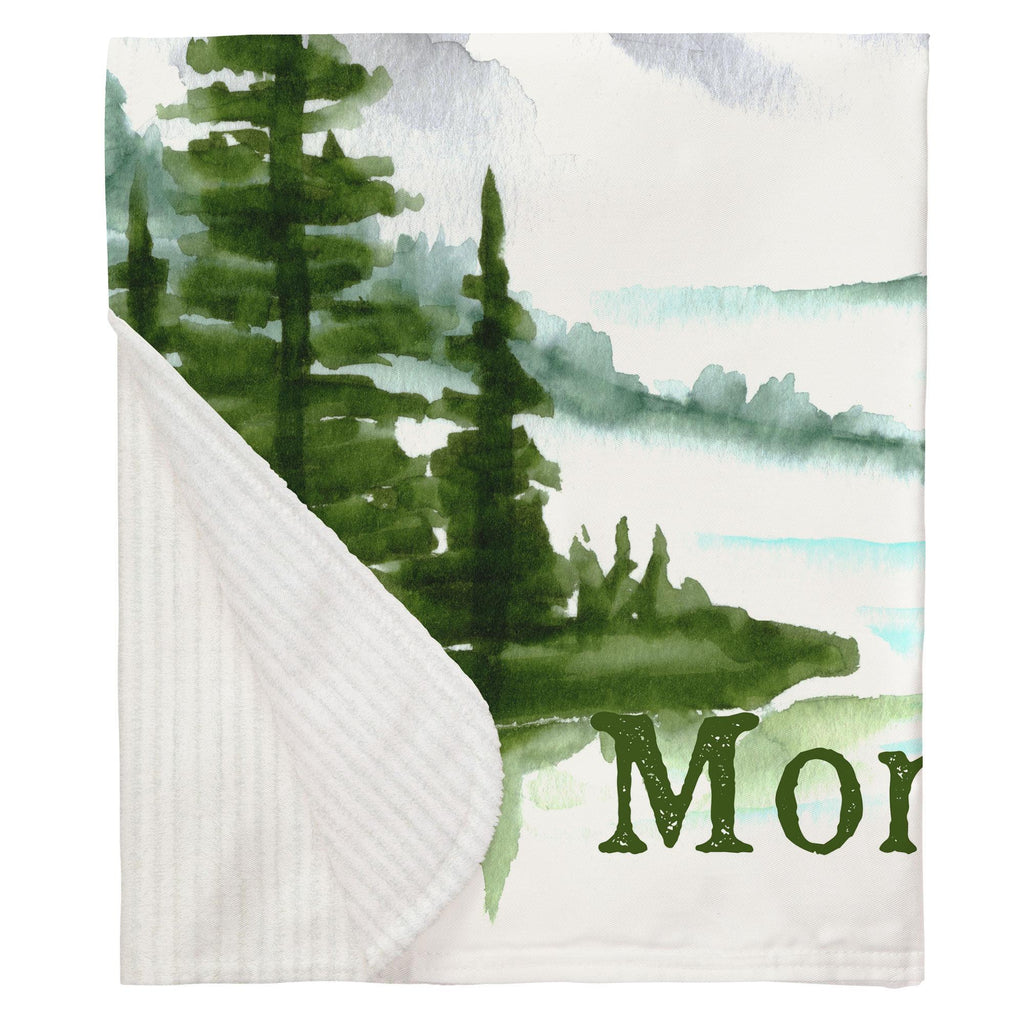 Product image for Painted Mountains Milestone Baby Blanket