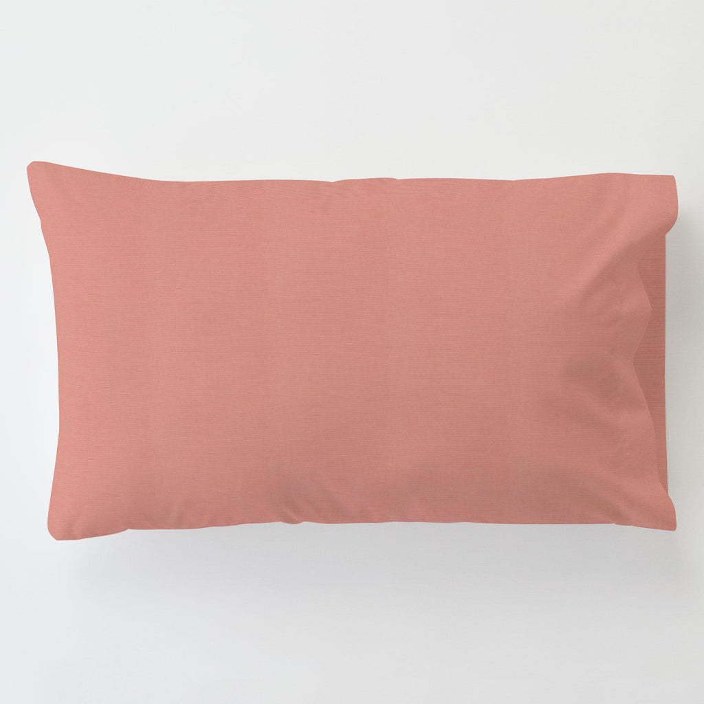 Product image for Solid Light Coral Toddler Pillow Case
