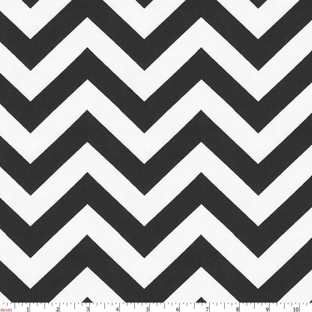 Product image for Black and White Zig Zag Fabric