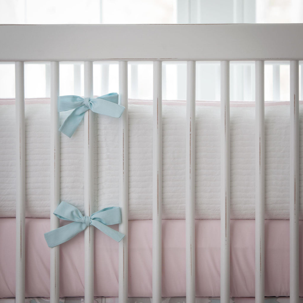 Product image for Pink and Gray Rosa Crib Bumper