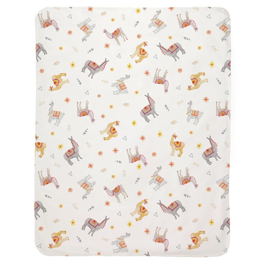 Product image for Festive Llamas Baby Blanket