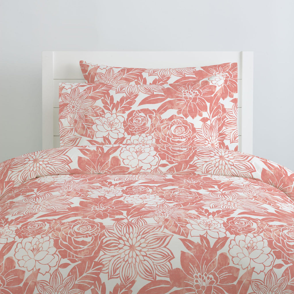 Product image for Light Coral Modern Blooms Pillow Case