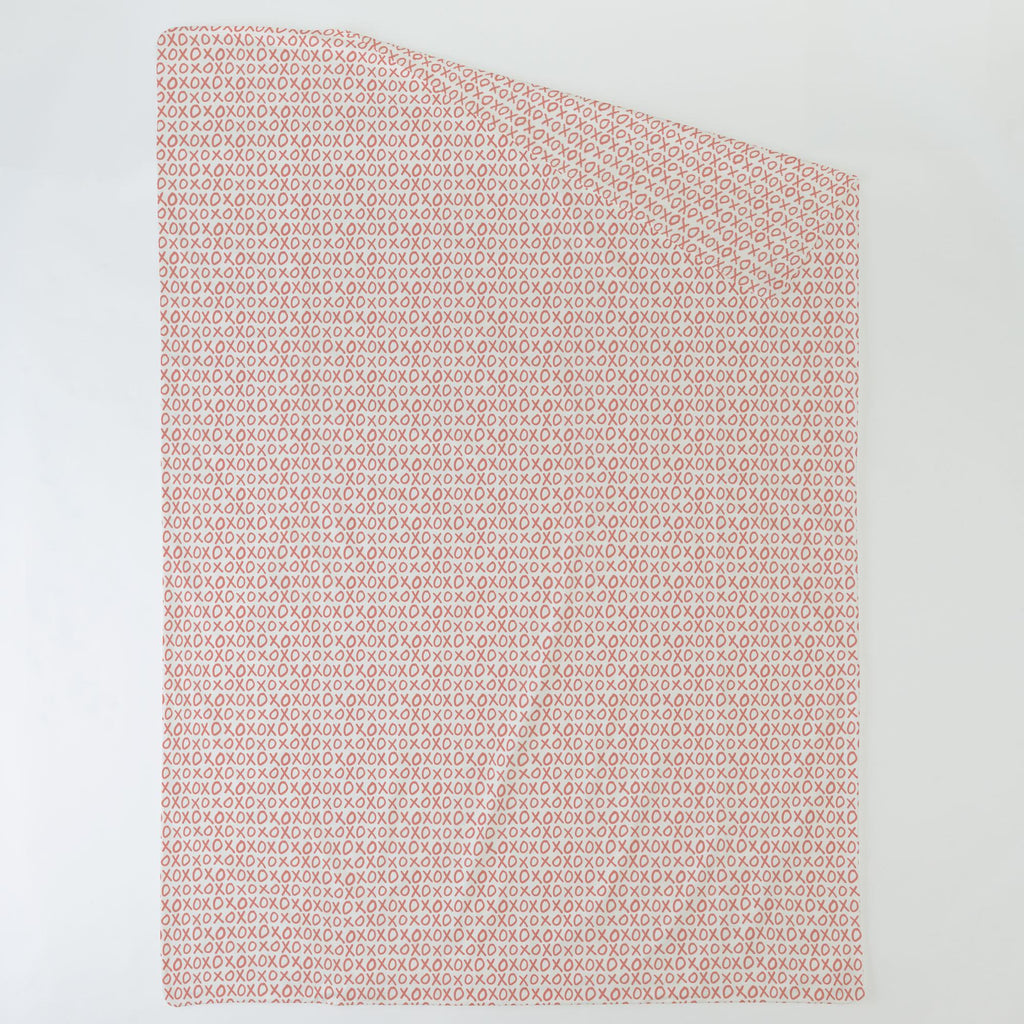 Product image for Light Coral XO Duvet Cover