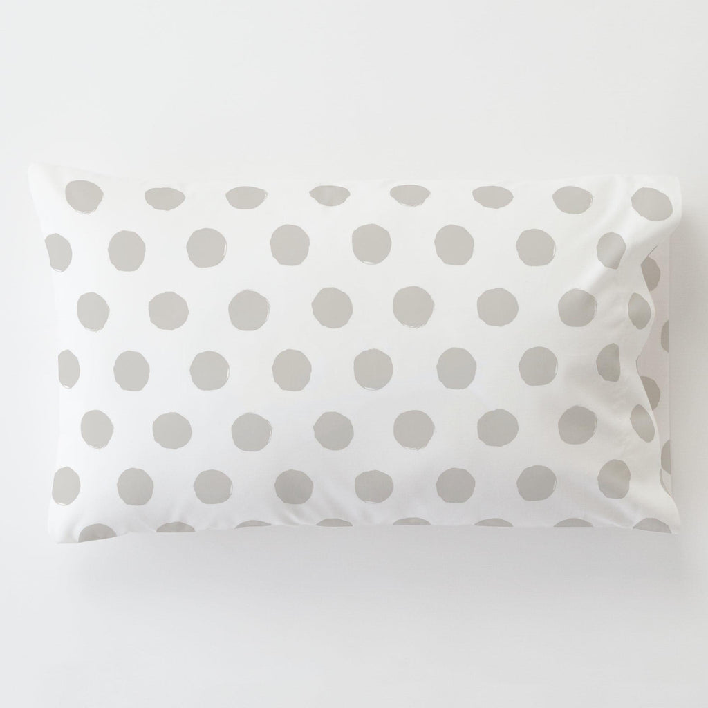 Product image for French Gray Brush Dots Toddler Pillow Case