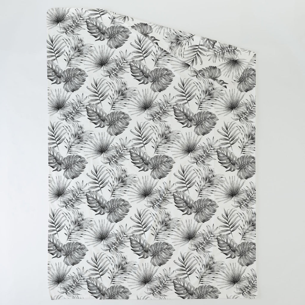 Product image for Gray Painted Tropical Duvet Cover