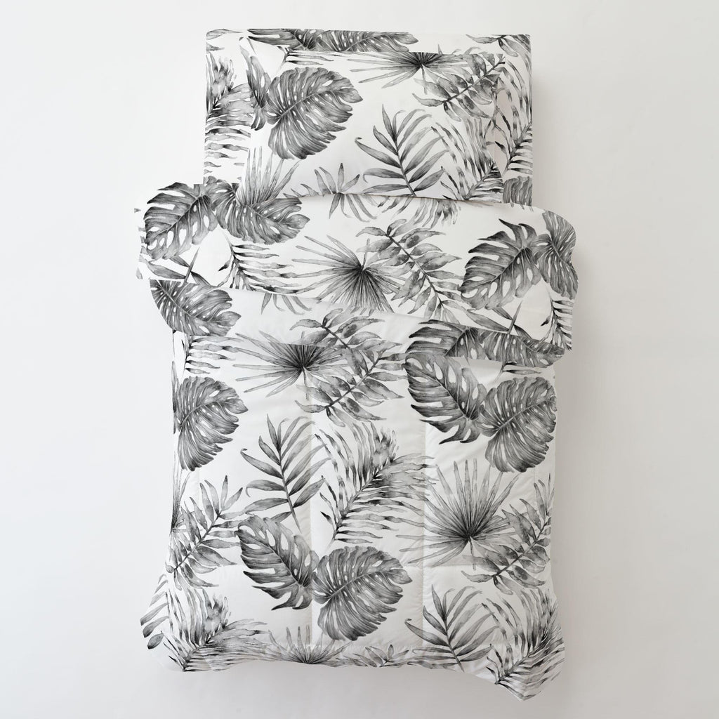 Product image for Gray Painted Tropical Toddler Comforter