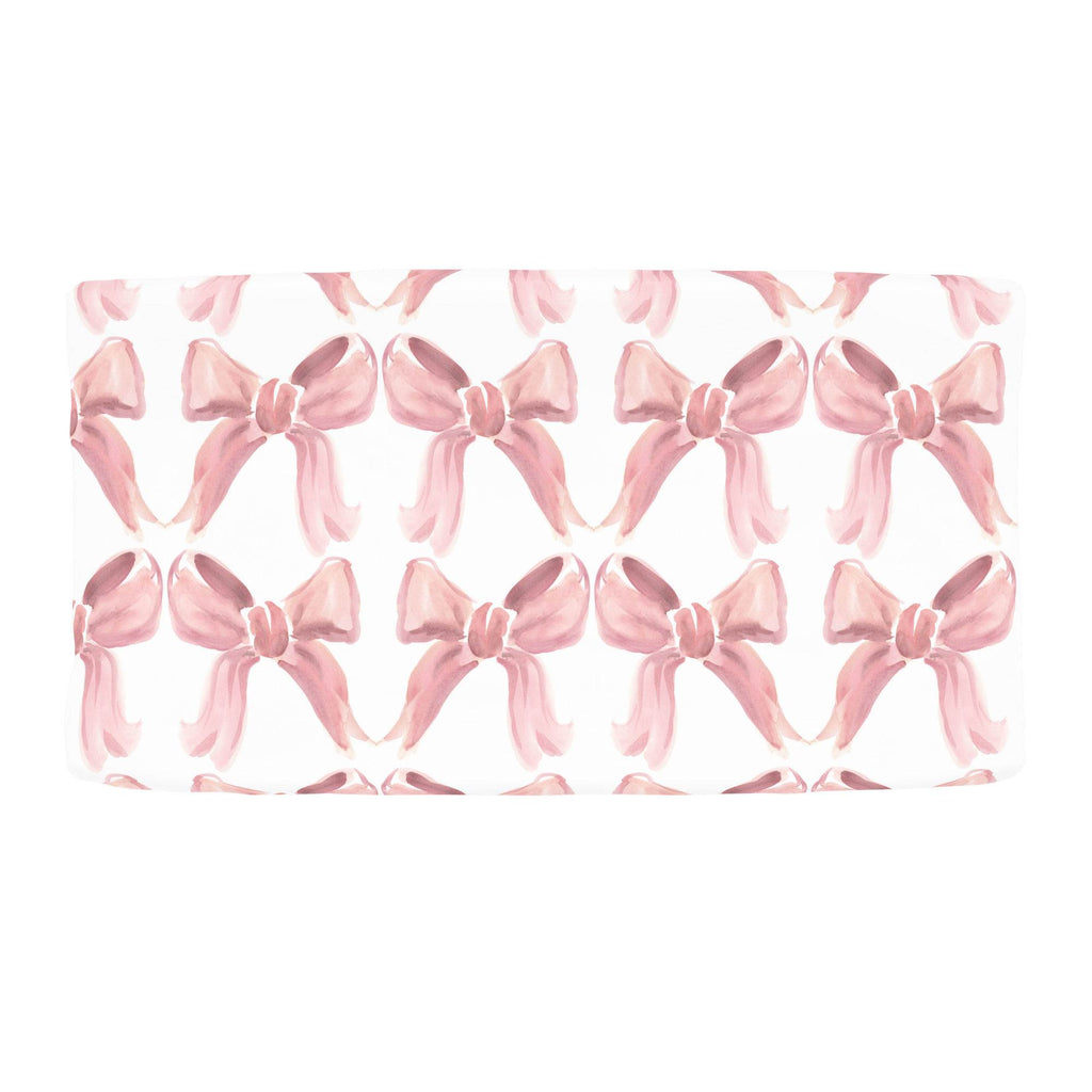 Product image for Pink Watercolor Bows Changing Pad Cover