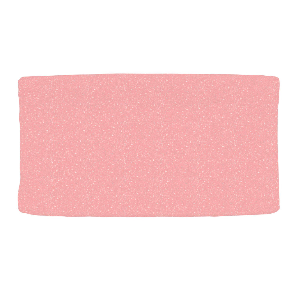 Product image for Coral Pink Heather Changing Pad Cover
