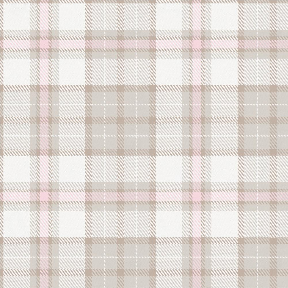 Product image for French Gray and Pink Plaid Drape Panel