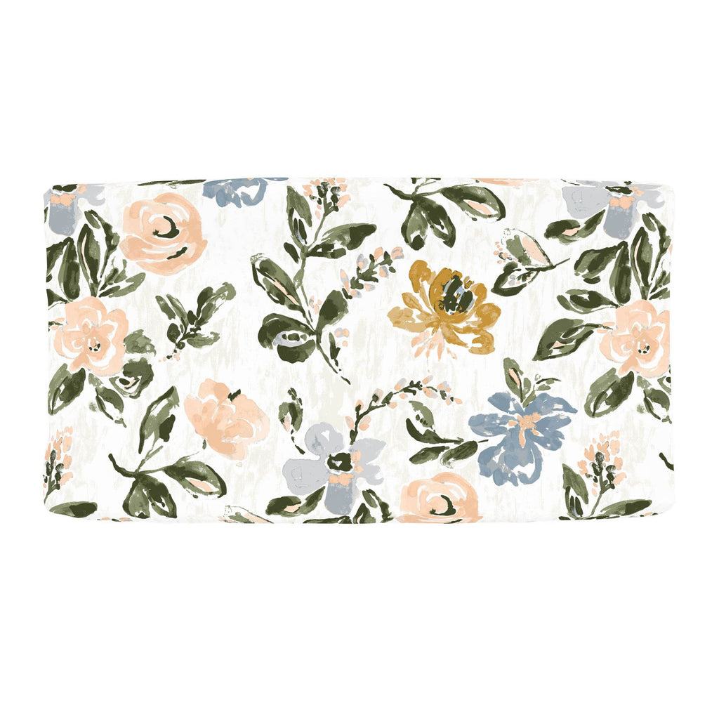 Product image for Blush Garden Changing Pad Cover