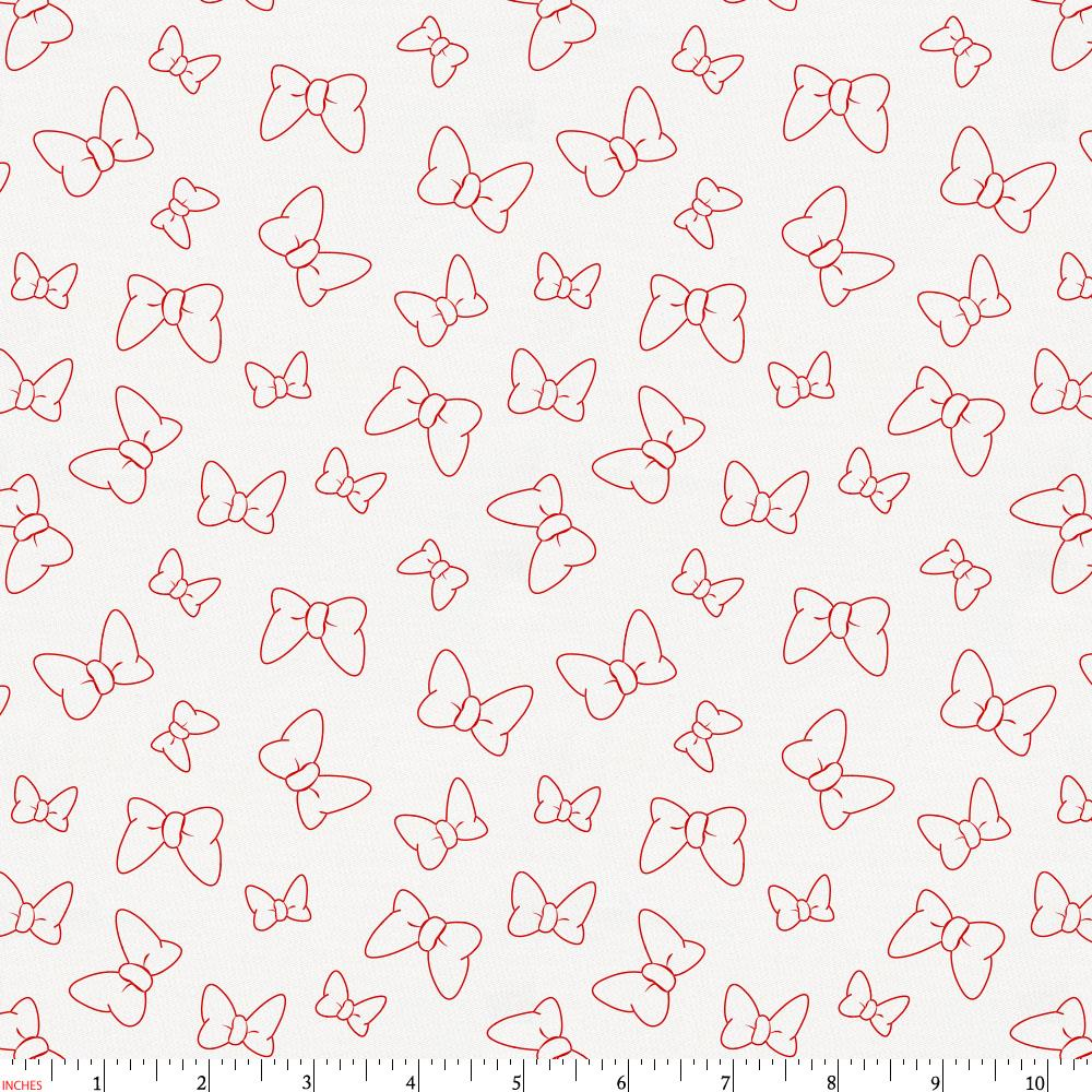 Product image for Disney© Red Minnie Bows Fabric