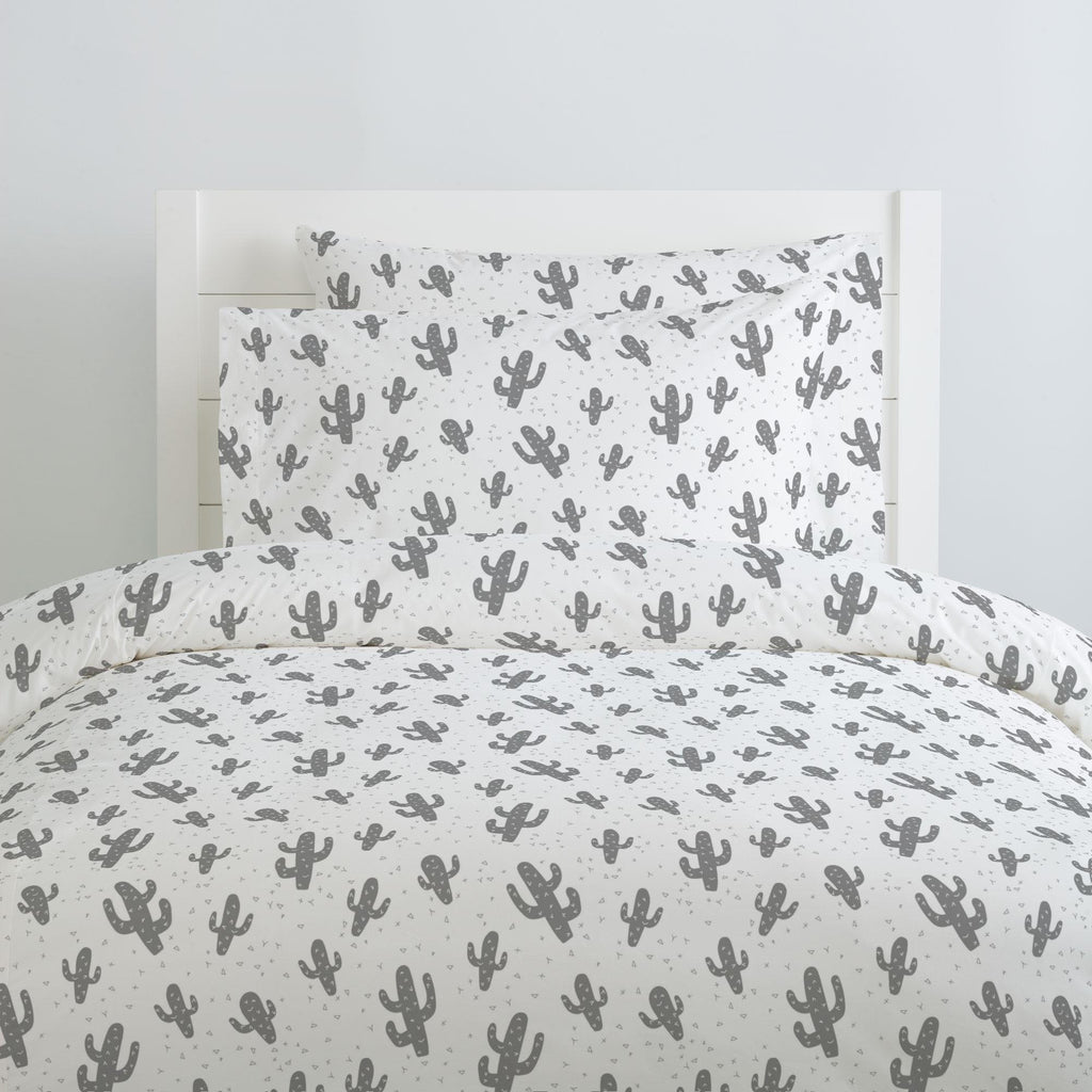 Product image for Cloud Gray Cactus Pillow Case