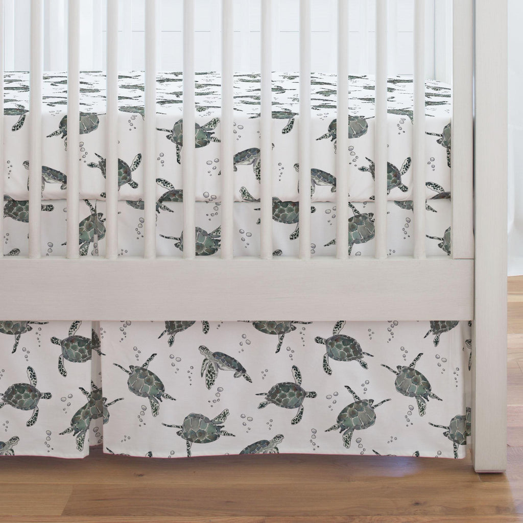 Product image for Sea Turtles Crib Skirt Single-Pleat