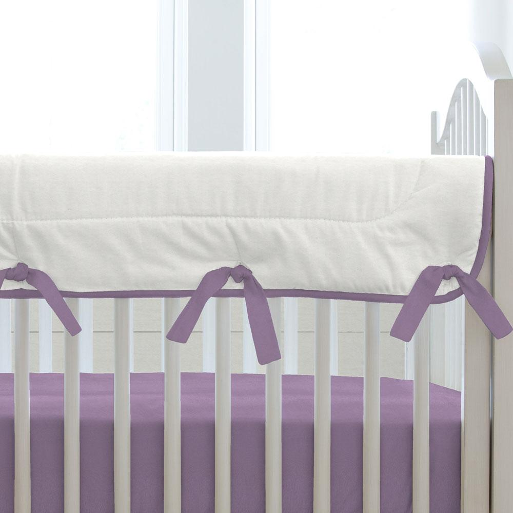 Product image for Solid Aubergine Purple Crib Rail Cover