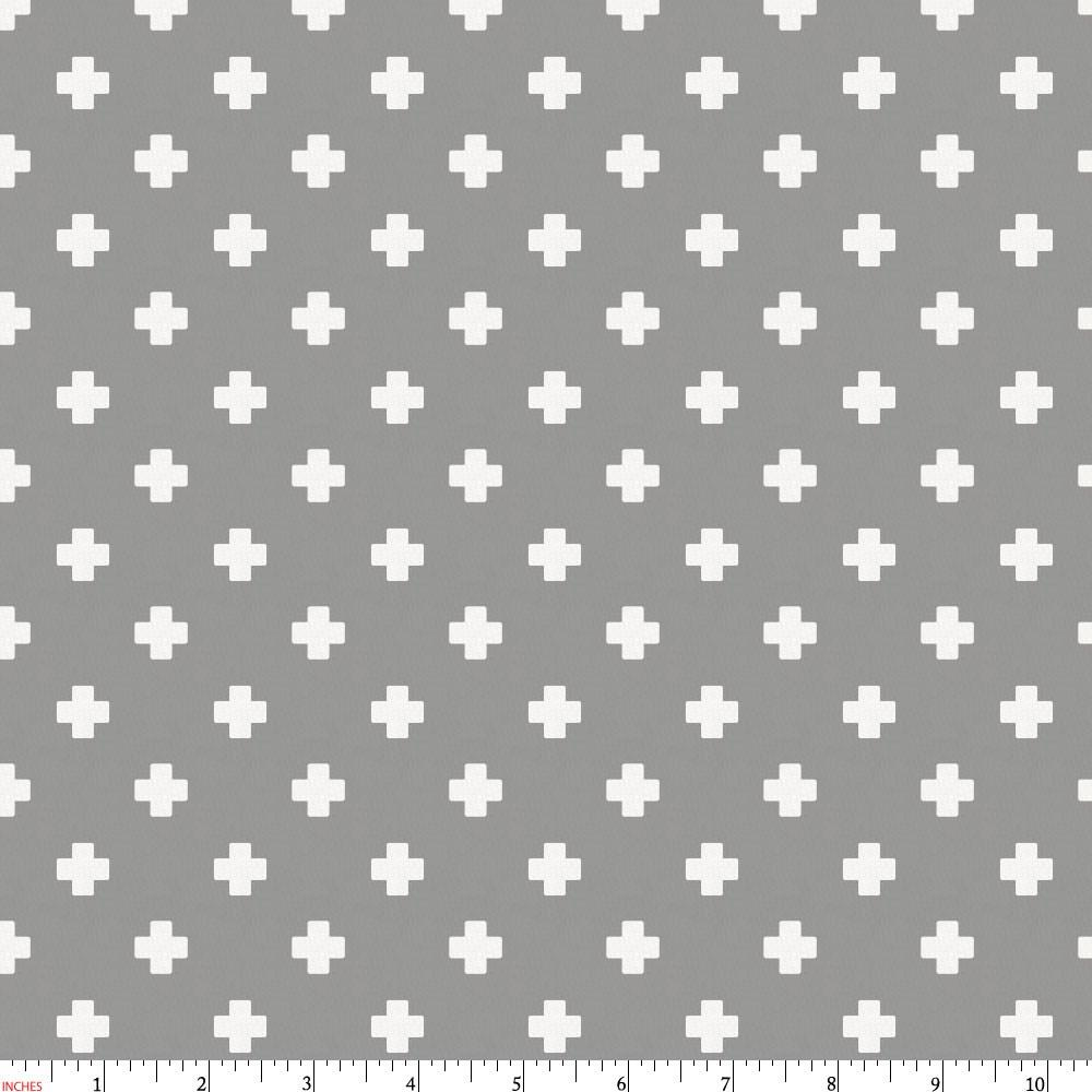 Product image for Gray Mini Swiss Cross Fabric
