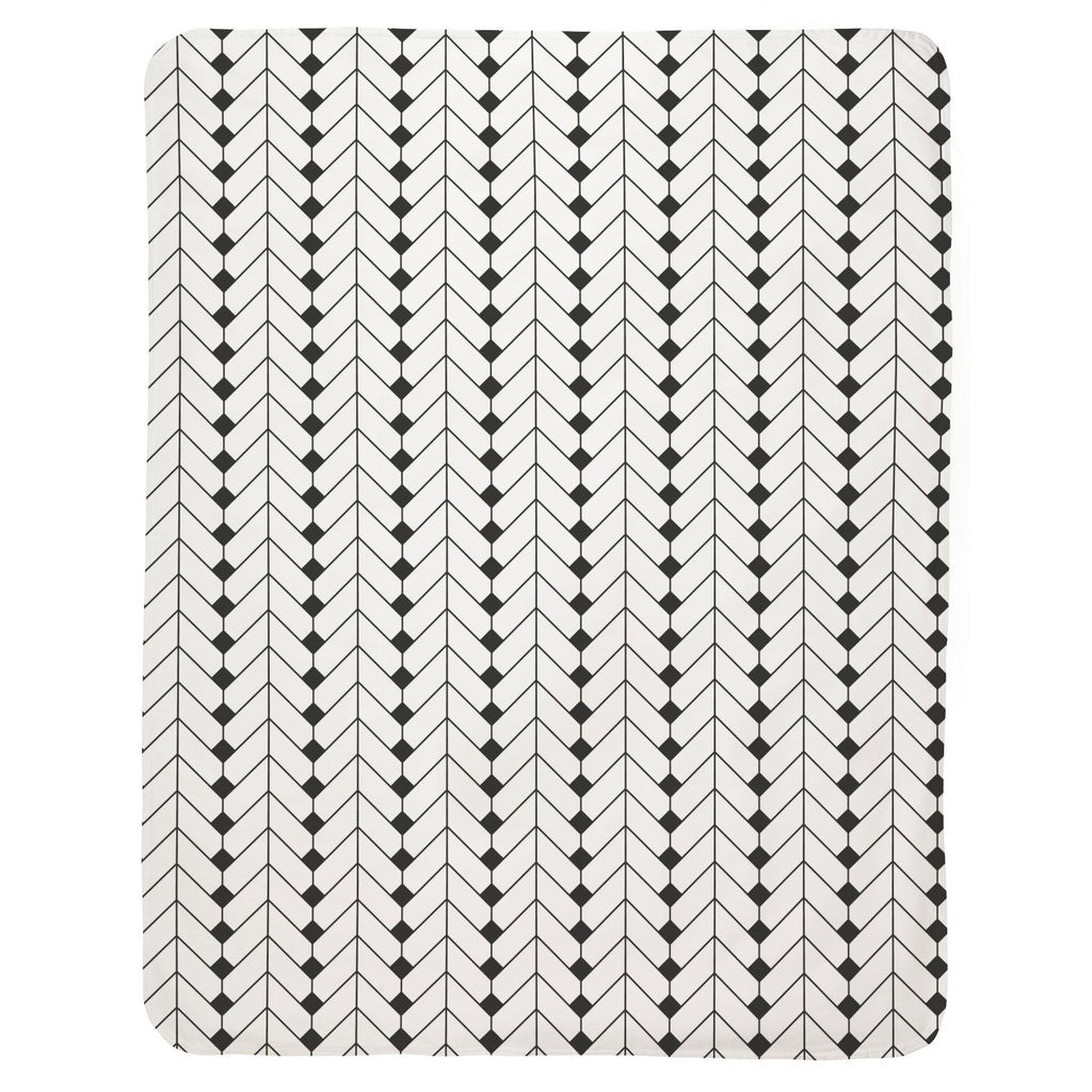 Product image for Charcoal Diamond Herringbone Baby Blanket