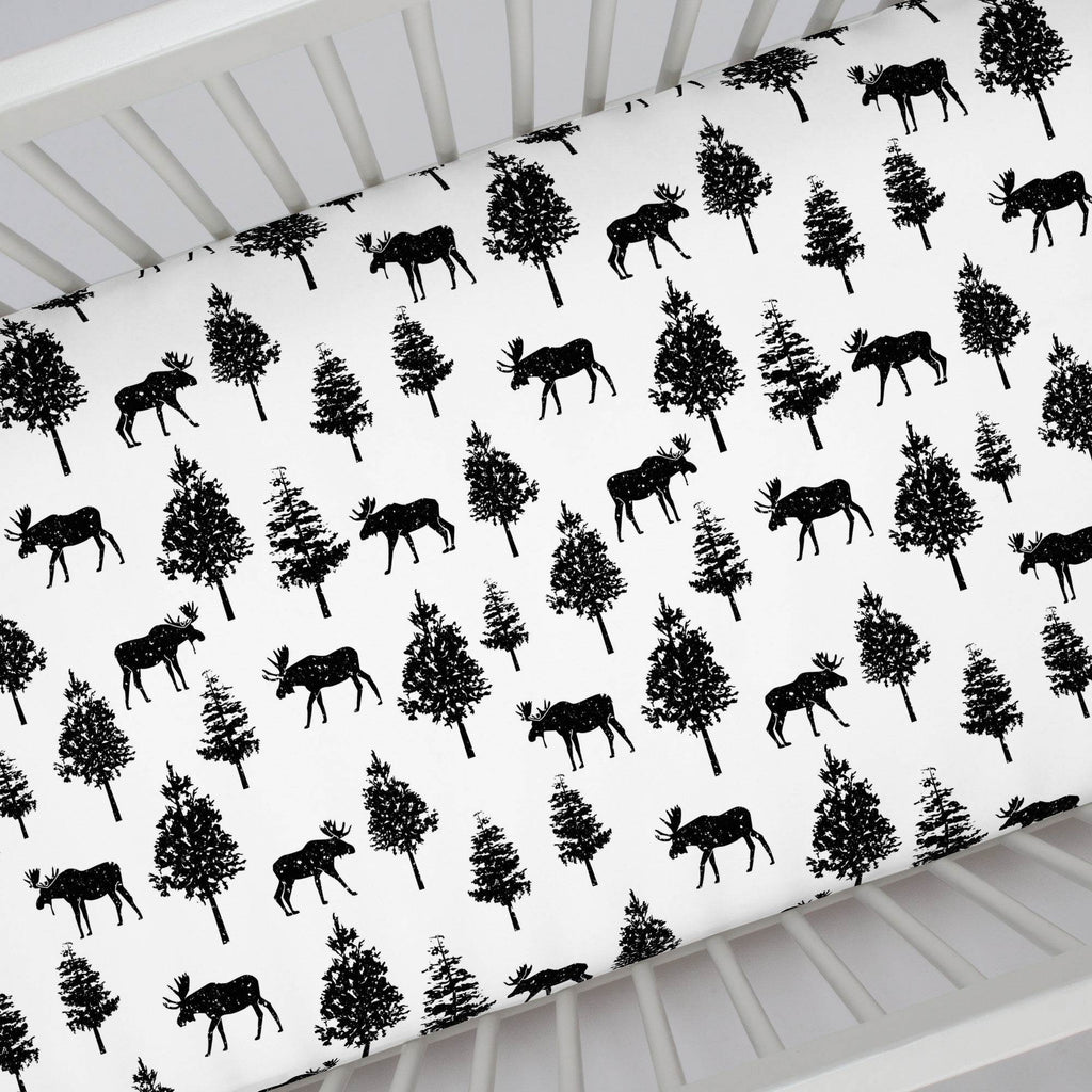 Product image for Onyx Moose Crib Sheet