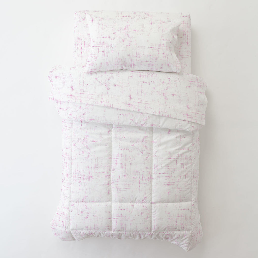 Product image for Hot Pink Distressed Toddler Pillow Case with Pillow Insert