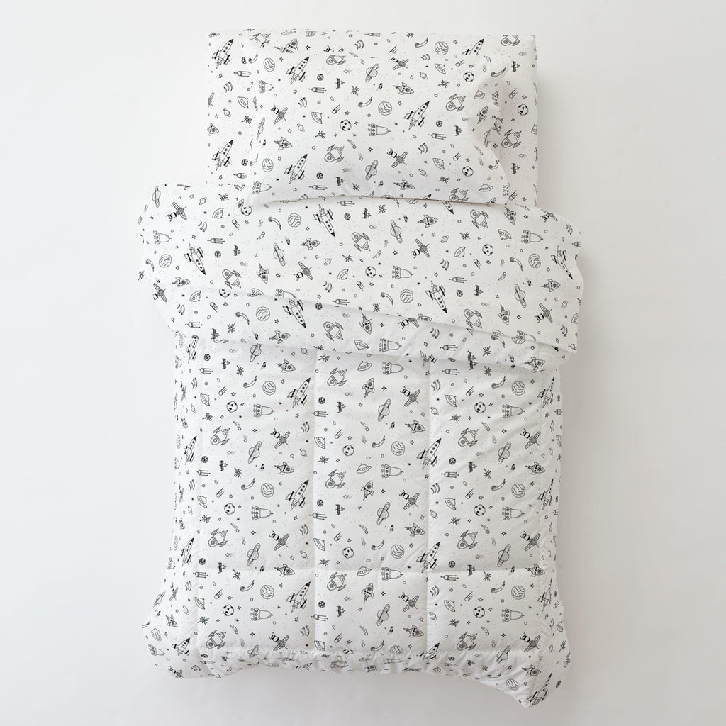 Product image for Onyx and White Rockets Toddler Comforter