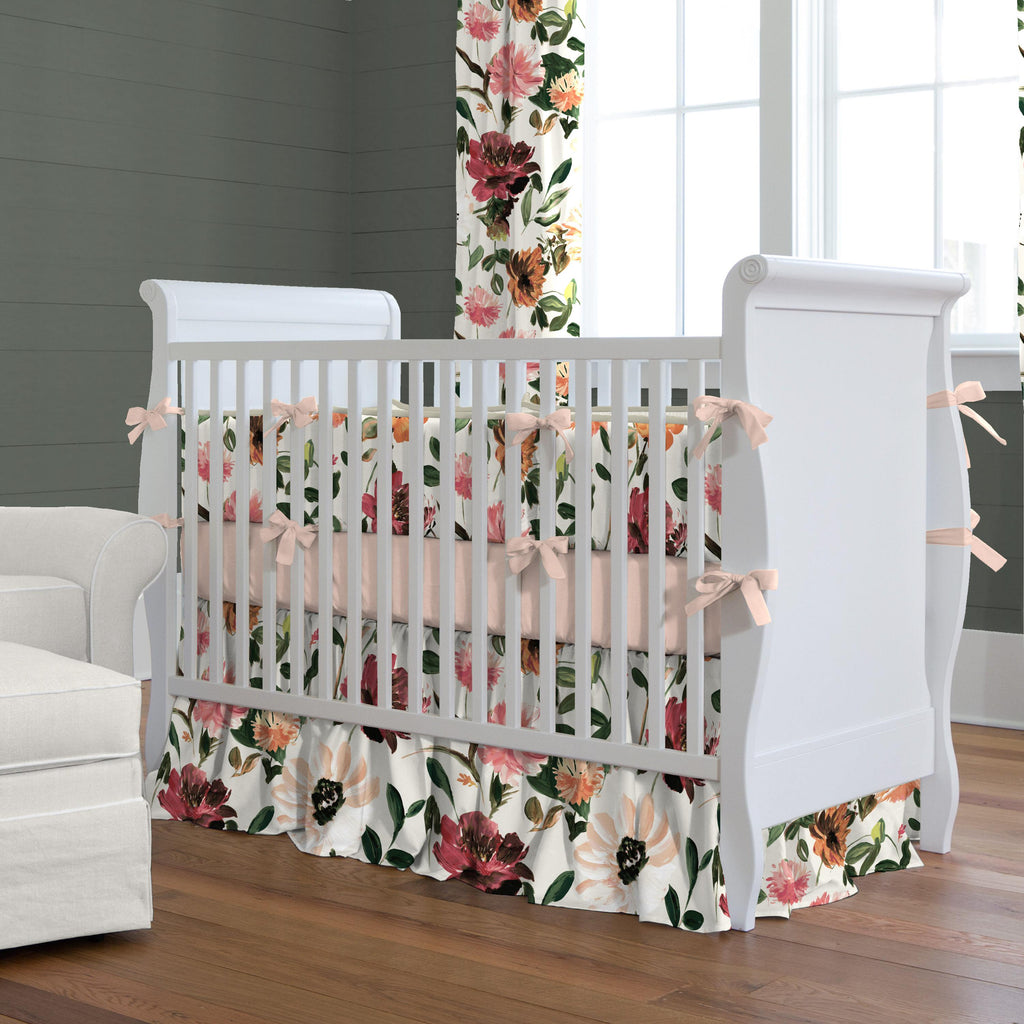 Product image for Moody Floral Crib Bumper