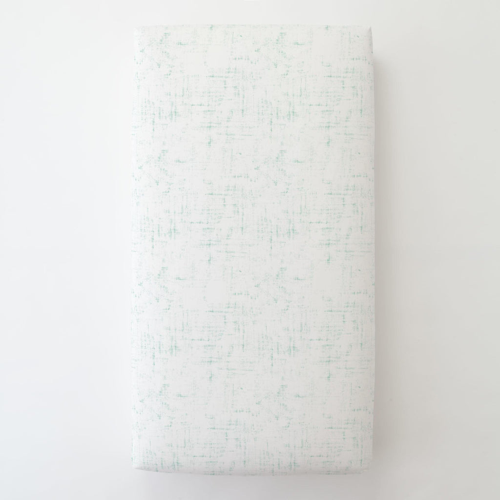 Product image for Mint Distressed Toddler Sheet Bottom Fitted