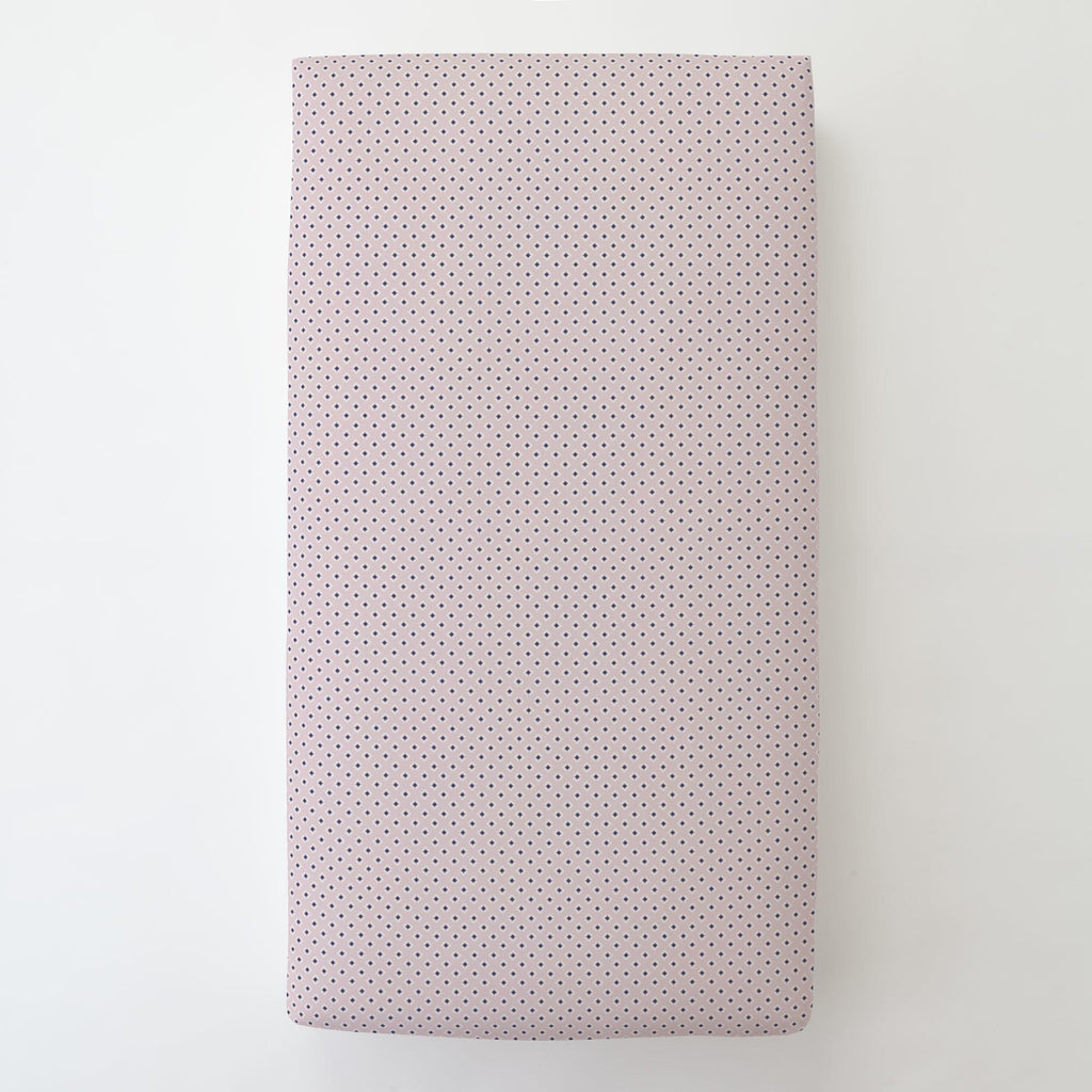 Product image for Pink and Navy Diamond Toddler Sheet Bottom Fitted