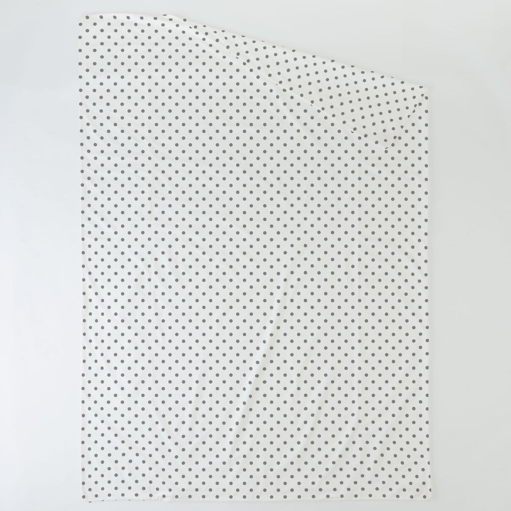 Product image for White and Gray Polka Dot Duvet Cover