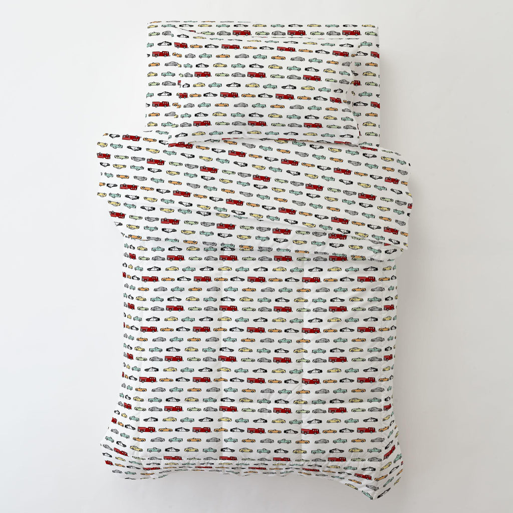 Product image for Modern Cars Toddler Pillow Case with Pillow Insert