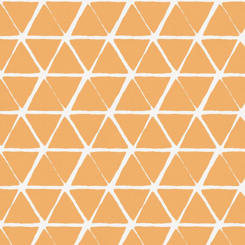 Product image for Light Orange Aztec Triangles Throw Pillow