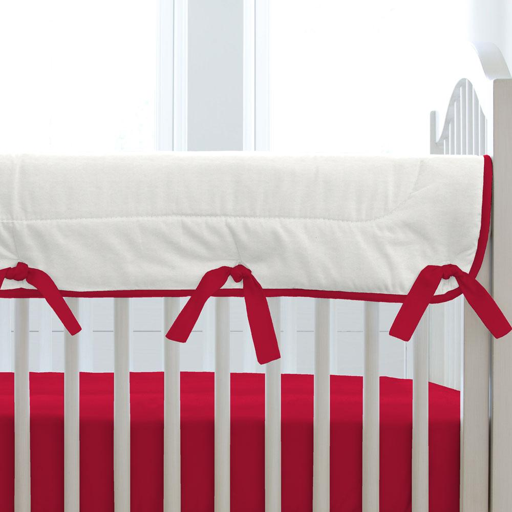 Product image for Solid Red Crib Rail Cover