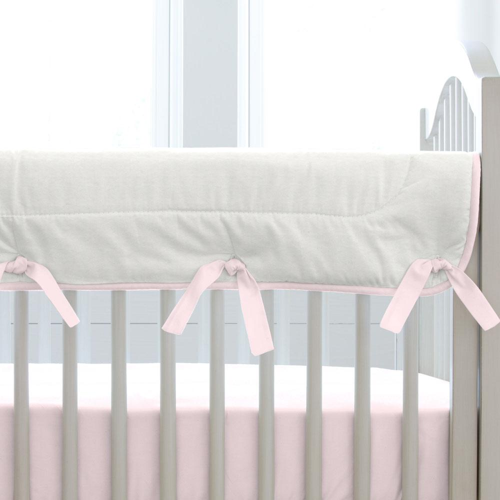 Product image for Solid Pink Crib Rail Cover