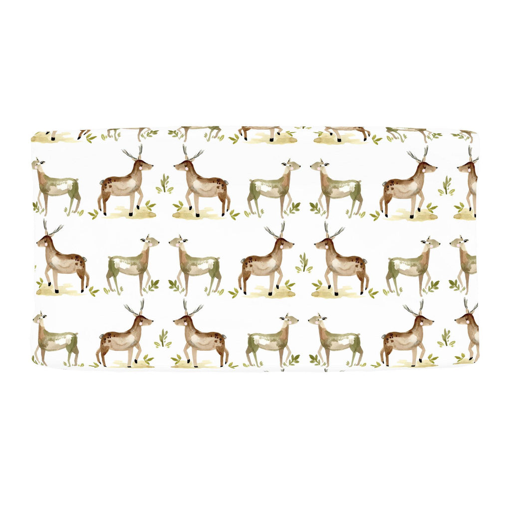 Product image for Painted Deer Changing Pad Cover