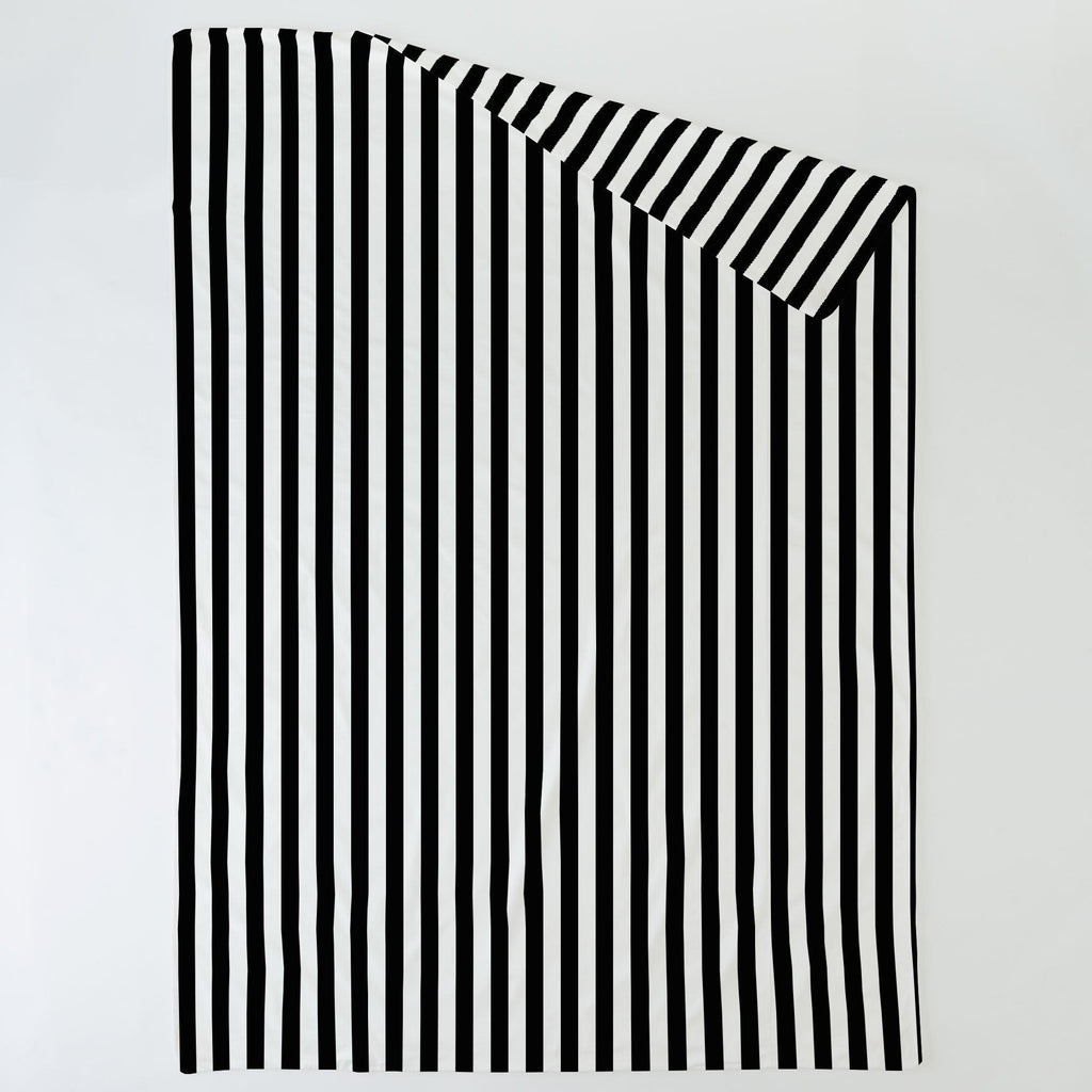 Product image for Onyx and White Stripe Duvet Cover