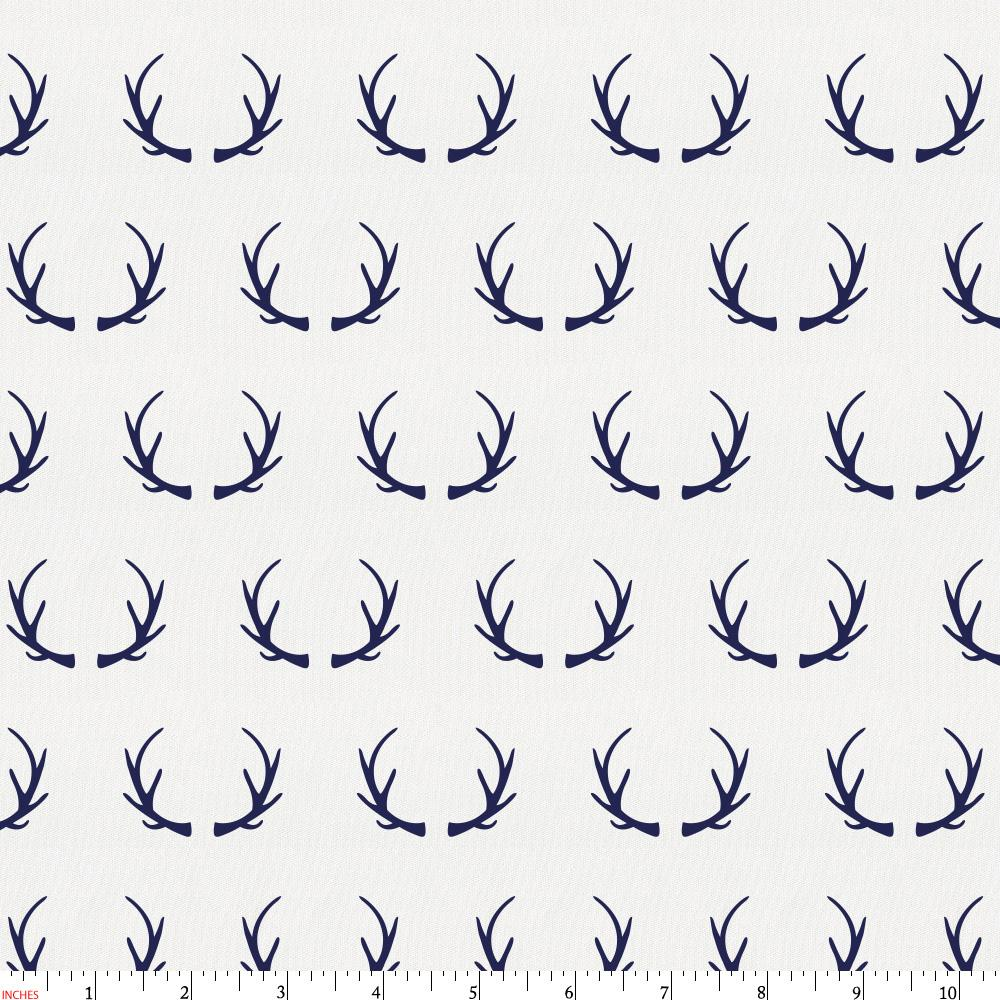 Product image for Windsor Navy Antlers Fabric