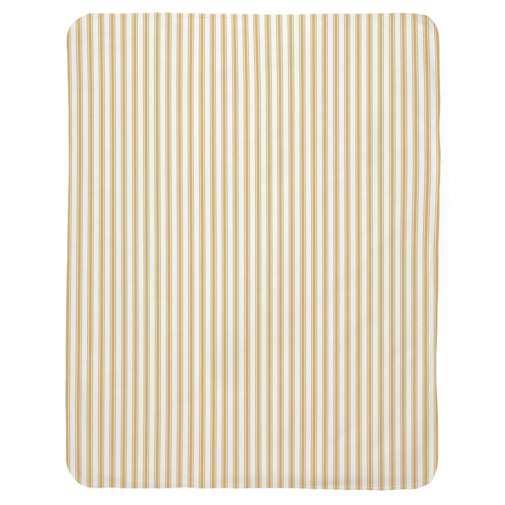 Product image for Mustard Ticking Stripe Baby Blanket