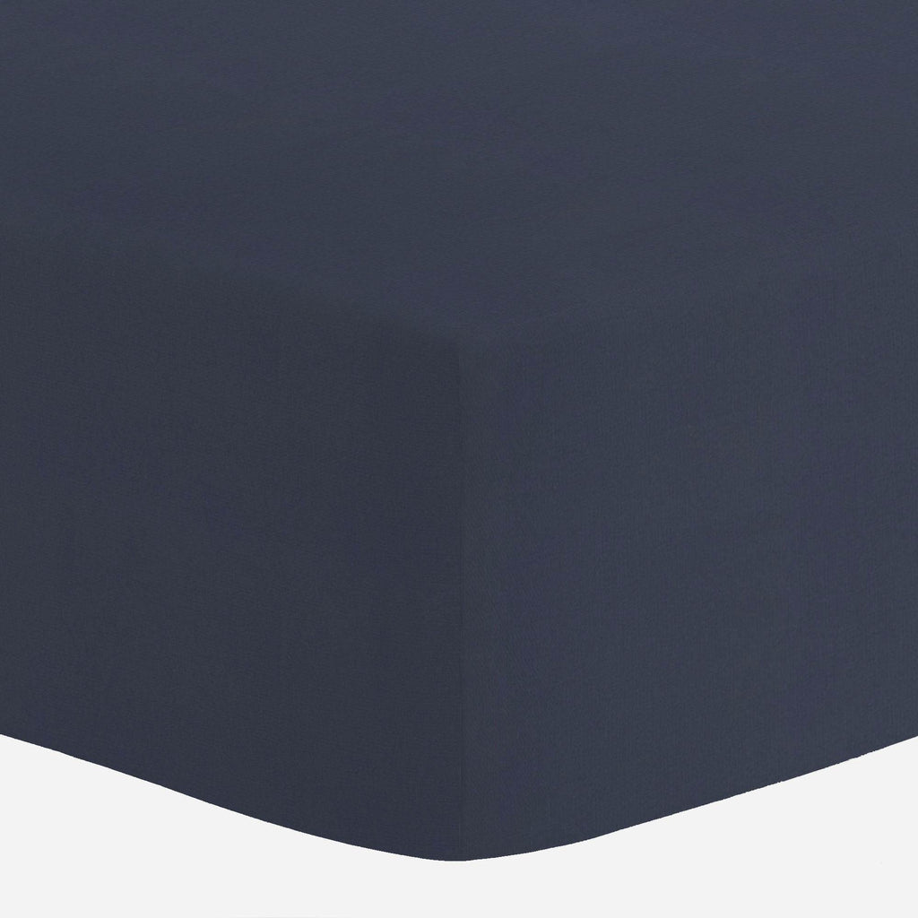 Product image for Solid Navy Mini Crib Sheet