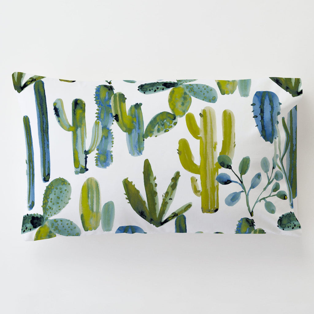 Product image for Blue Painted Cactus Toddler Pillow Case