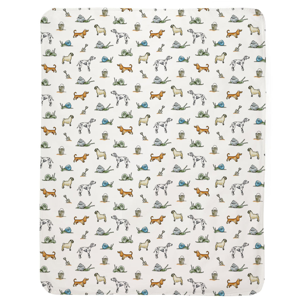 Product image for Snails and Tails Baby Blanket