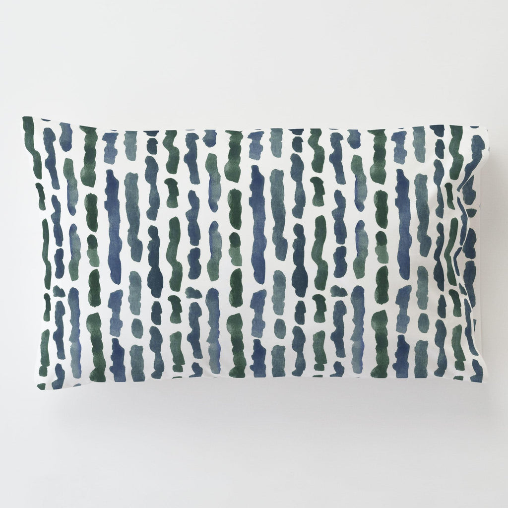 Product image for Sea Green Stripe Toddler Pillow Case