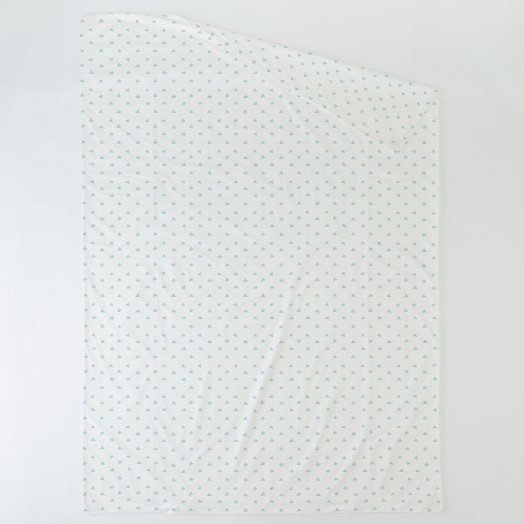 Product image for Seafoam Aqua Triangle Dots Duvet Cover